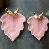 핑크나뭇잎 참새수반 (대) 1p (35238)