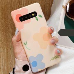 갤럭시/노트 파스텔 플라워 패턴 젤하드 휴대폰케이스