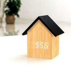 [무료배송] 레토 인테리어 하우스 LED탁상시계 알람 LLC-P05H
