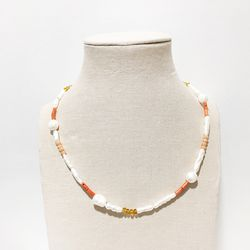 PEARL BEAD MIX NECKLACE