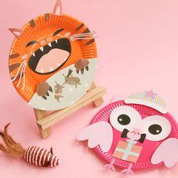 종이접시만들기 종이아트 재료