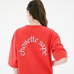 세미써클 로고 티셔츠 C218TS003-RD