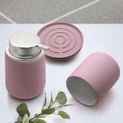 노바솝디스펜서+텀블러+비누홀더세트 핑크