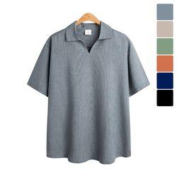 쿨링 오픈 카라 반팔 티셔츠 TSB826