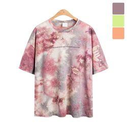 오버핏 썸타임 나염 반팔 티셔츠 TSB822