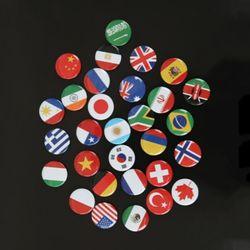 국기자석 30개국 1세트