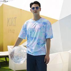 남성 빅사이즈 루즈핏 반팔 오버핏 티셔츠 래쉬가드 JR108