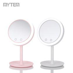 마이템 LED 바람 메이크업 거울 (USB) GPM-002 화이트핑크 택1