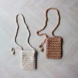 핸드메이드 니트 방울 미니 숄더백 (2color)