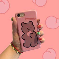 [뮤즈무드] peach bear 아이폰케이스