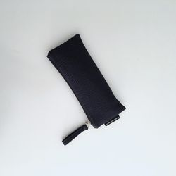 퀼팅 네이비 필통(Quilting navy pencil case)