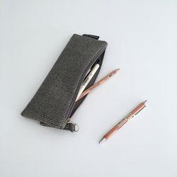 퀼팅 그레이 필통(Quilting gray pencil case)