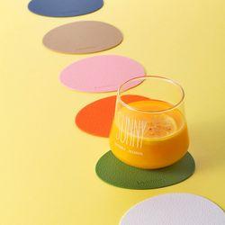 케라미카 실리콘 컵받침 티코스터 오벌4Pset(13color)