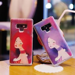 아이폰8플러스 Liso-Sueno 일러스트 카드 범퍼 케이스
