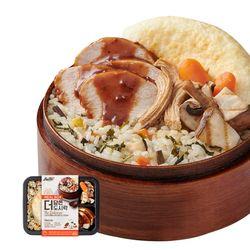 더담은 닭가슴살 도시락 다섯가지나물밥&갈릭스테이크소스 1팩