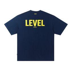 LEVEL LOGO T-SHIRT NAVY