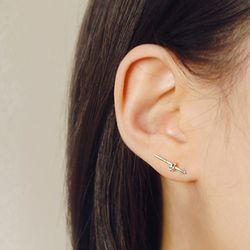 Silver Basic Rope Earrings (사랑의 매듭 이어링)