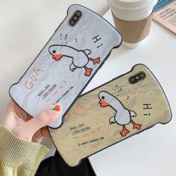 아이폰 귀여운 오리 캐릭터 실리콘 커플 휴대폰케이스
