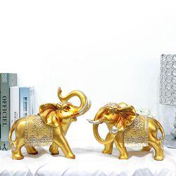골드실버 황금 코끼리장식품 GS001 2P SET 엔틱 인테리어소품
