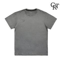 라운드넥 슬라브 실켓 티셔츠 라이트카키