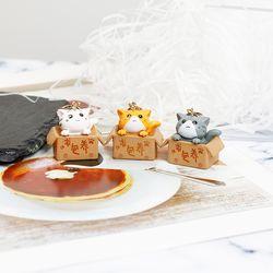 [핸드메이드] 쁘띠 상자 고양이 에어팟 키링