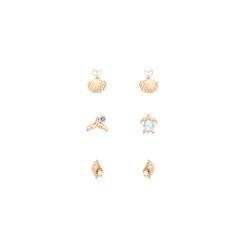 [조개와고래] 푸른 바다 패키지 로즈골드 귀걸이 OTE619615QPL