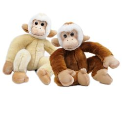 56455647 원숭이 동물인형세트(베이지갈색) 28cm.H