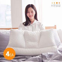 우유베개 라텍스 기능성 경추 베개(4EA)