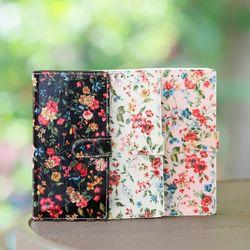갤럭시A9프로 (G887) Jardine 꽃무늬 지갑 다이어리 케이스