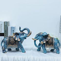 엔틱 토파즈 코끼리 장식품 ET001 2P SET 인테리어소품