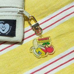 B 루카랩 후르츠 홀리데이 키링 -  Cherry banana 체리 바나나