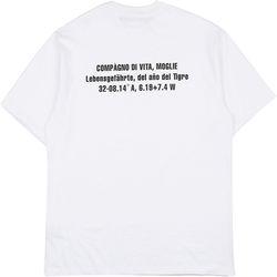 [16수] COMPAGNO DI VITA 반팔 화이트