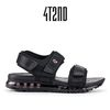 4T2ND 오리지널 002 남여 에어샌들 블랙라벨 5CM-블랙