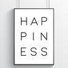 Happiness 행복 글귀포스터 (a4)