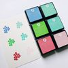 Dye Ink Pad 6 Cubes Set - 1