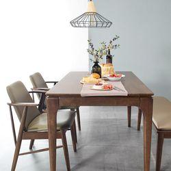 모노 4인 원목 식탁세트(의자벤치)