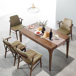 모노 4인 원목 식탁세트(의자)