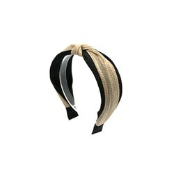 [오뜨르뒤몽드] raffia knot hairband (black)