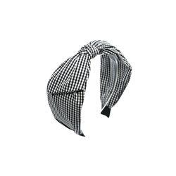 [오뜨르뒤몽드] gingham check hairband (black)