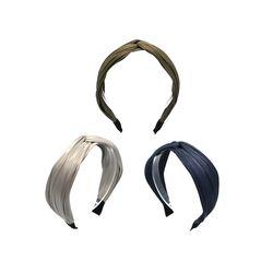 [오뜨르뒤몽드] shiny pleats hairband (3colors)