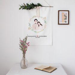 웨딩 월데코(봄의 웨딩) 올리브 가지형