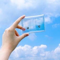 PVC 완전 투명 카드 지갑 동전 케이스