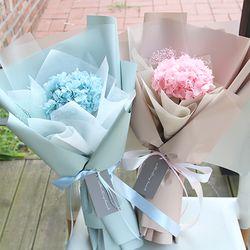 프리저브드수국꽃다발 핑크 블루