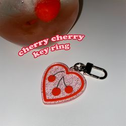 [뮤즈무드] cherry cherry key ring (키링)