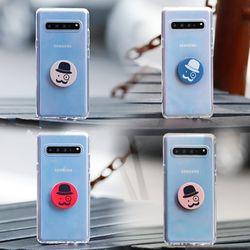 갤럭시노트4 (N910) Bien-GentilTok 그립톡 투명 젤리 케이스