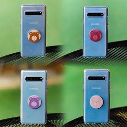 갤럭시노트FE (N935) Bien-BearTok 그립톡 투명 젤리 케이스