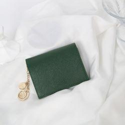[별자리키링 ] Minette Half Wallet - Green