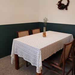 베아트리체 스캘럽 레이스 식탁보 160x130cm