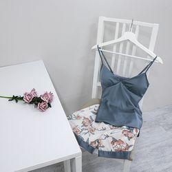잠옷 실크 파자마 홈웨어 여름 빅사이즈 (3color) hw-8002c
