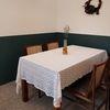 베아트리체 스캘럽 레이스 식탁보 160x220cm
